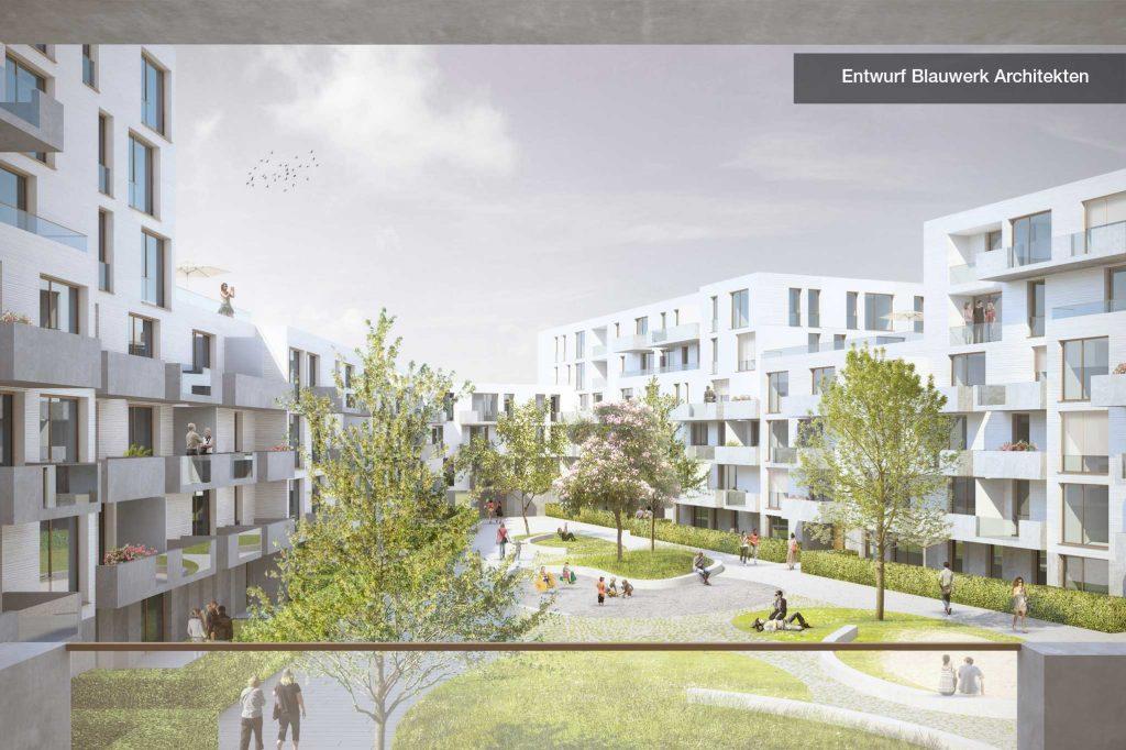 Entwurf Blauwerk Architekten Innenhof
