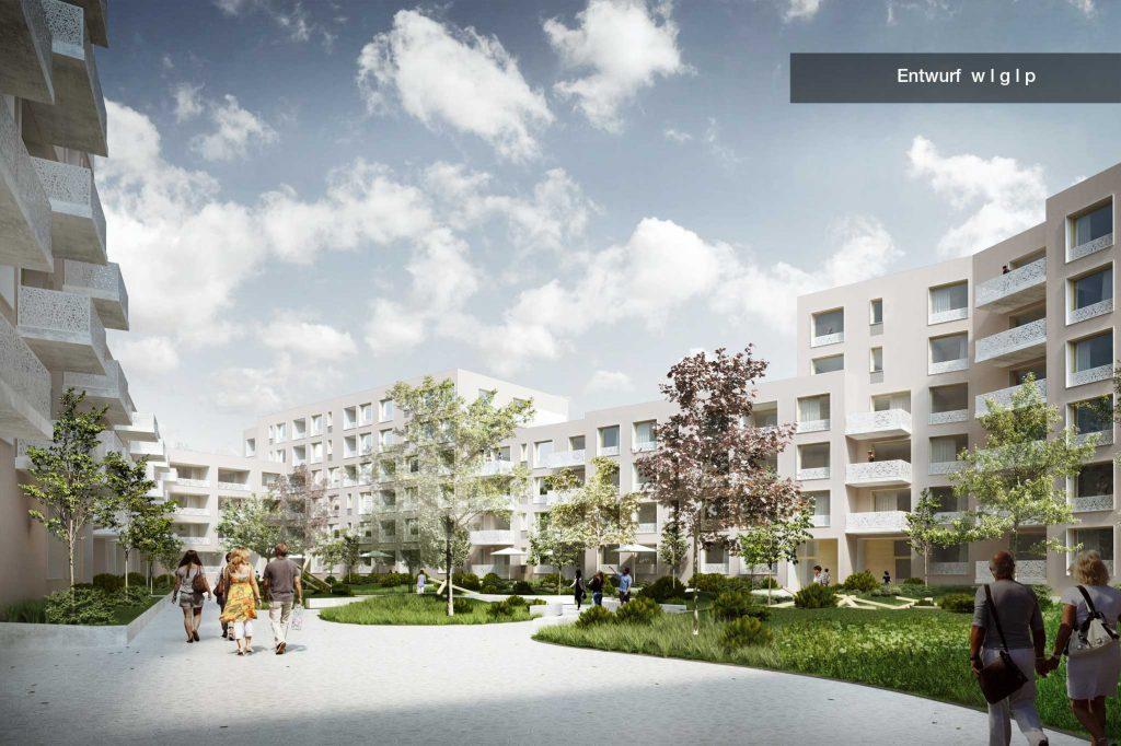 Entwurf WGP Architekten Innenhof