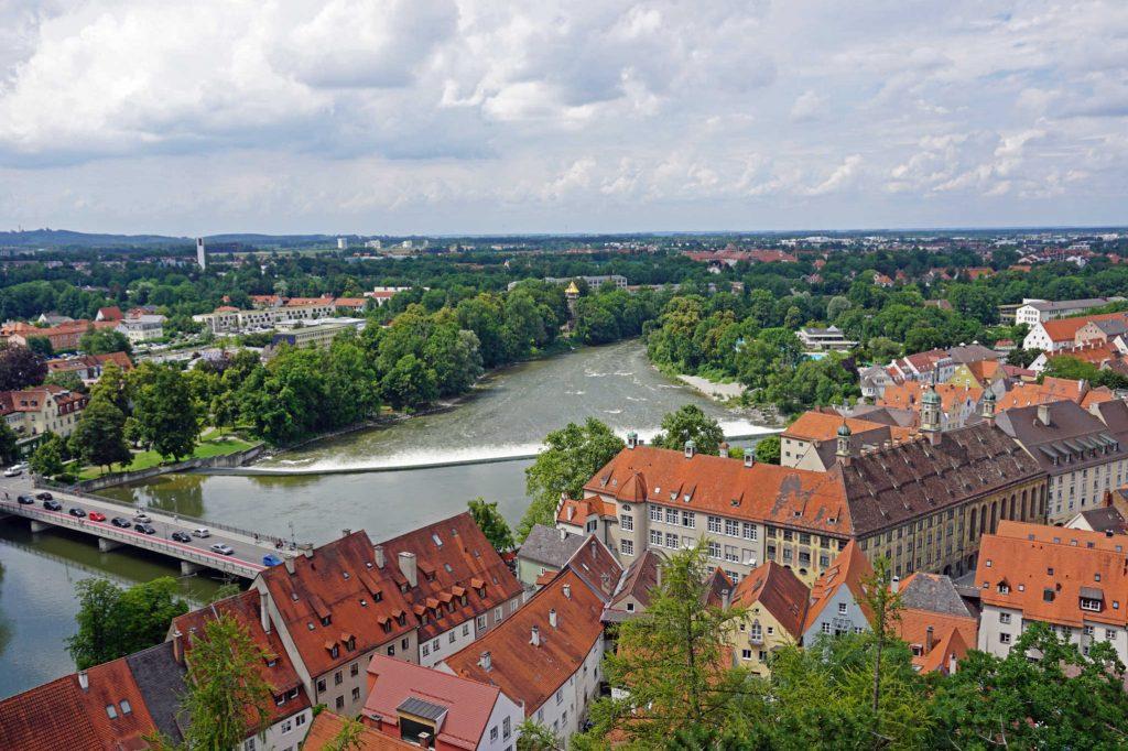 Blick über das Lechwehr © Stadt Landsberg am Lech