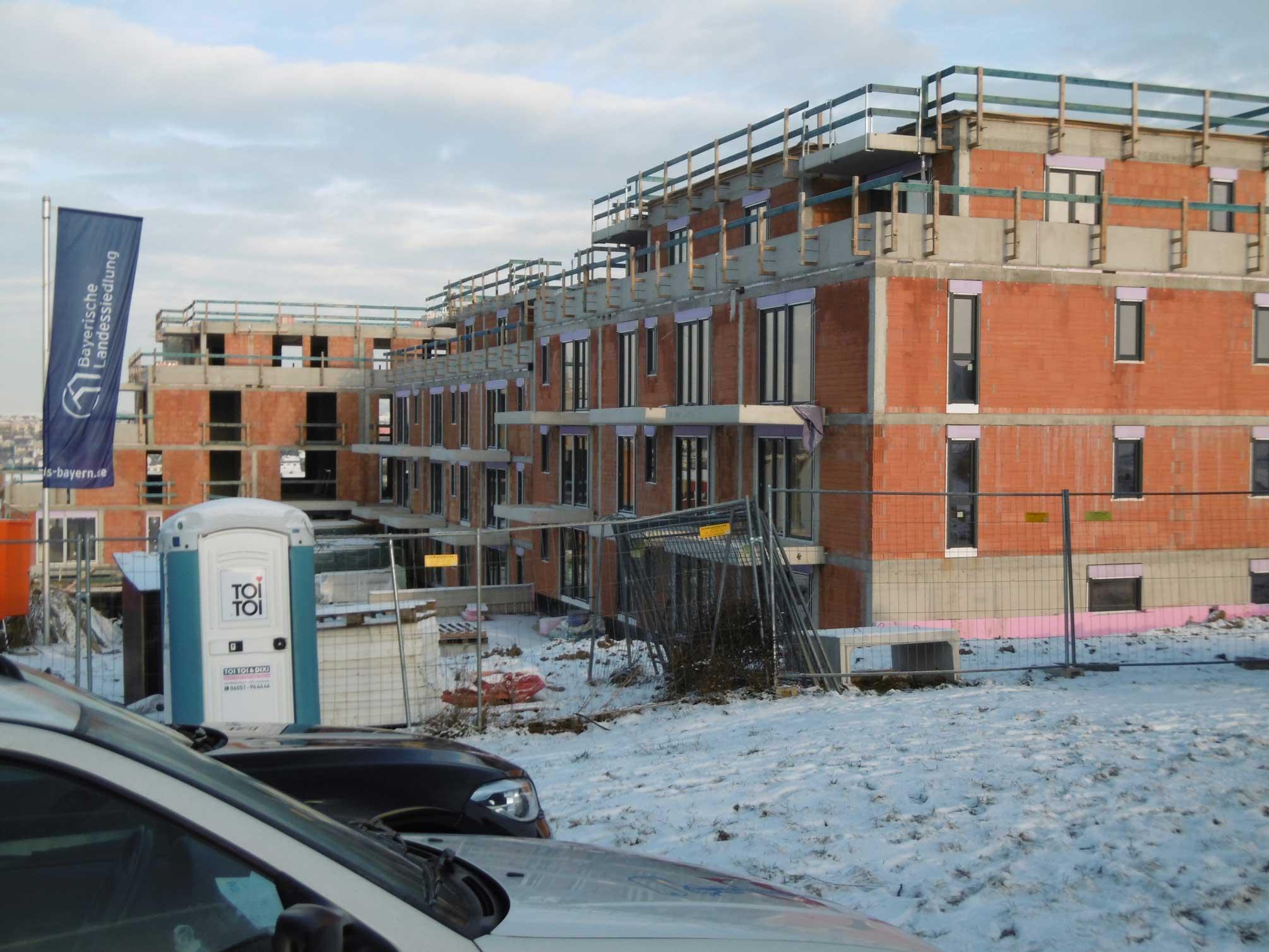 Würzburg Baustelle im Februar 2016