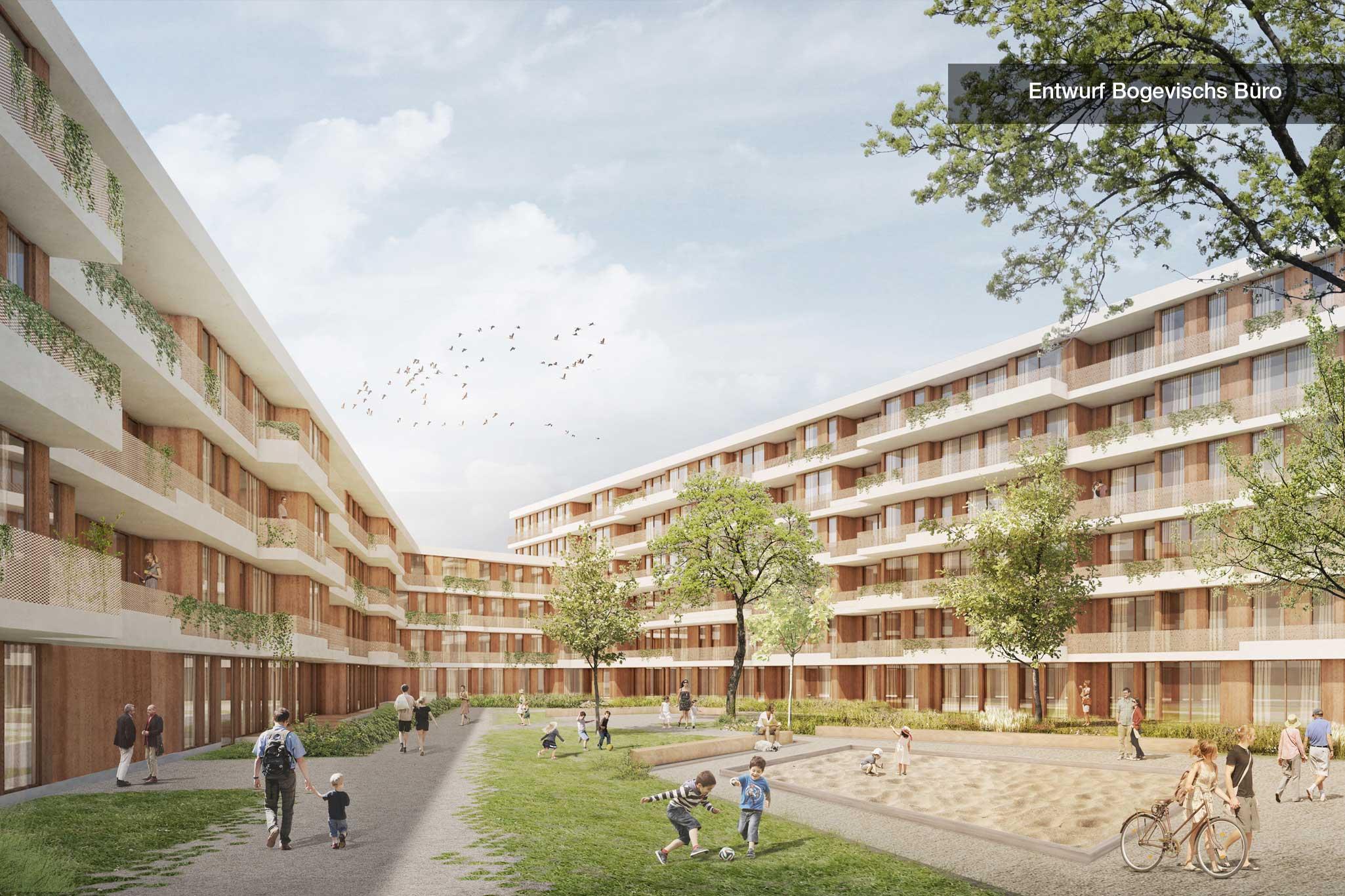 Entwurf Bogevischs Büro Innenhof