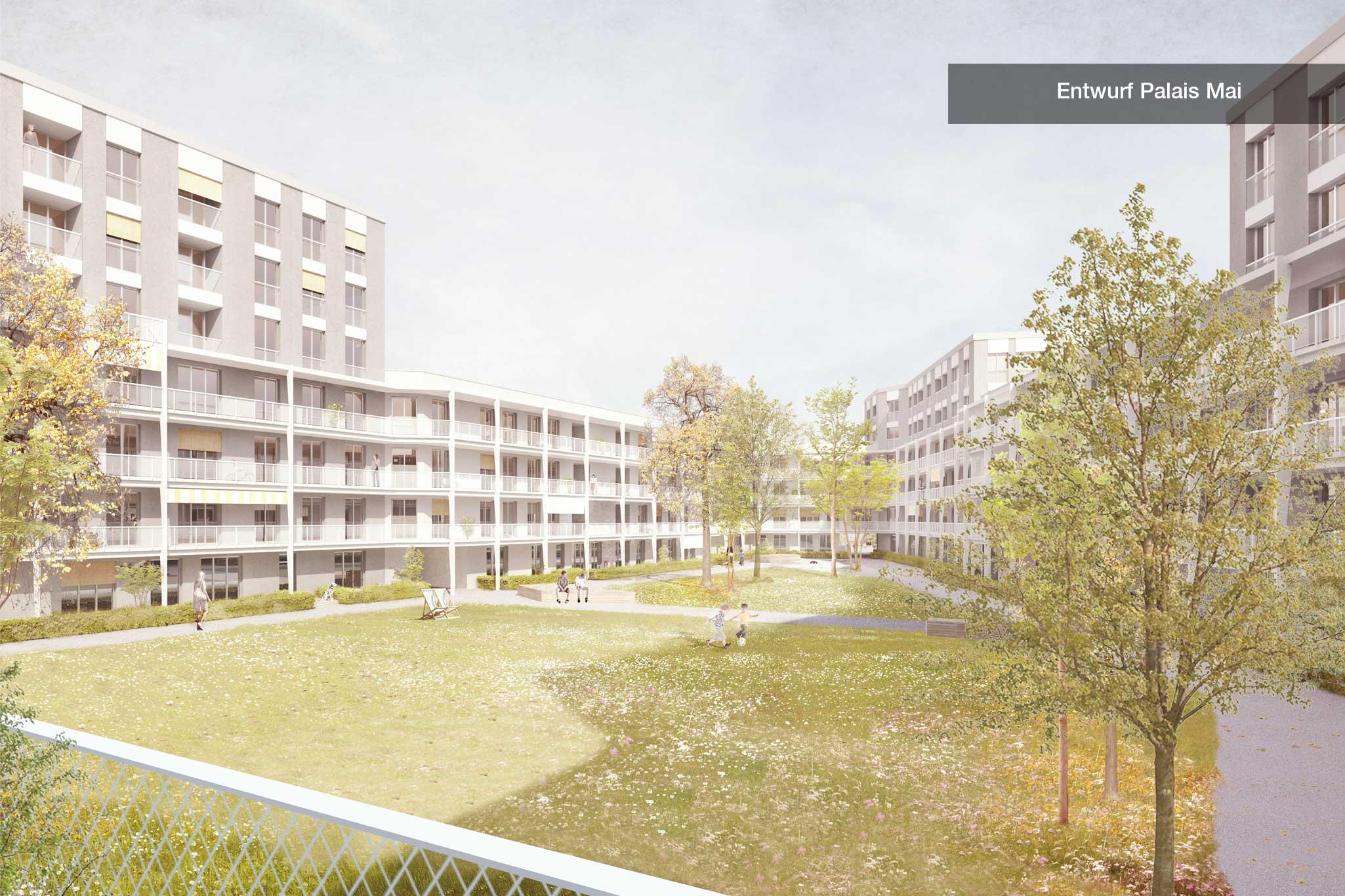 Entwurf Palaismai Innenhof