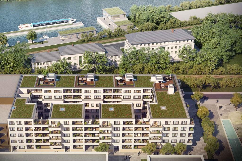 Ansicht von oben mit Donaublick